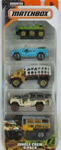 Matchbox Jungle Crew diecast Toy Vehicles 5-Pack