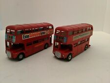 Lot of 2, Dinky 289, Roadmaster Buses Schweppes & Esso Tires, Driver Conductress