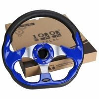 10L0L Golf Cart Steering Wheel For EZGO Club Car Yamaha Golf Cart Blue Hot US
