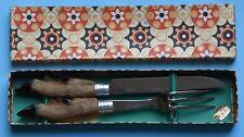 couteau et fourchette à viande anciens
