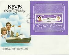 1981 Nevis oversize FDC cover Prince Charles and Lady Diana