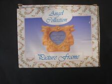 Angel Picture Photo Frame - Terra Cotta Colored - Heart Shaped Picture
