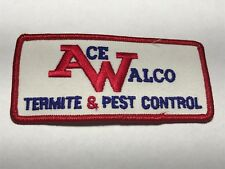Ace Walco Termite Pest Control Company Residential NJ Bug Embroidered Patch A