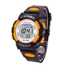 Waterproof Children Boys Sports Watch LED Digital Date Alarm Wrist Watch Gift
