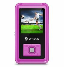 Ematic Em208vid 8 Gb Pink Flash Portable Media Player - Photo Viewer, Video
