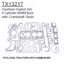 TX13217 Fiat Long Tractor Parts Overhaul Gasket Set - 4 Cylinder