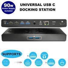USB C Docking Station: Laptop Power Delivery, Dual Display HDMI+DisplayPort 90w