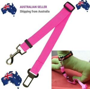 PINK Adjustable Pet Dog Safety Car Vehicle Seat Belt Harness Lead Pet Seatbelt .