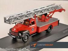 Opel Blitz Feuerwehr Tocadiscos Ladder Fire Truck 1/43 Modelo a escala Altaya