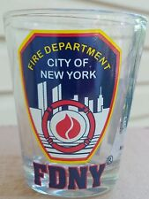 FDNY FIRE DEPARTMENT CITY OF NEW YORK CLEAR SHOT GLASS
