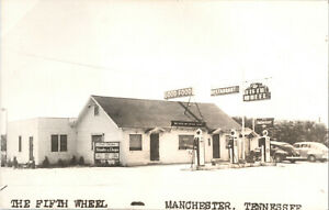 Rppc The Fifth Wheel Restaurant Gas Station Manchester Tennessee -11