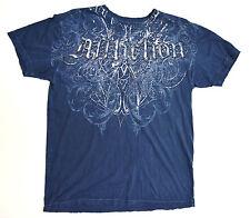 Affliction Eagle Wings Blue Large Shirt New