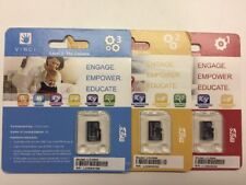 LOT OF 3 New 4 GB Micro SD Card Flash Class 4 Memory Card HS