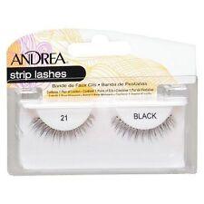 10 Pairs Andrea Modlash 21 False Eyelashes Strip Lashes Black 22110