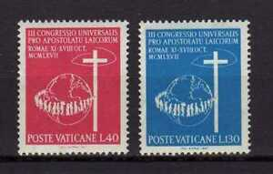 S25481) Dealer Stock Vatican 1967 MNH Lay 2v (X10 Sets)
