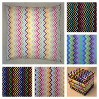 "SCATTER CUSHION COVERS CHEVRON ZIG ZAG STRIPE 16"" 18"" 20"" 22"" 24"" 26"" 28"" OR 30"""