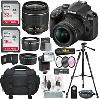 Nikon D3400 with AF-P DX NIKKOR 18-55mm f/3.5-5.6G VR Total of 48GB, BUNDLE