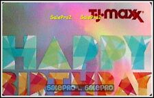 T.J. MAXX USA MARSHALLS HOME GOODS HAPPY BIRTHDAY FOIL COLLECTIBLE GIFT CARD