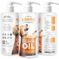 Mighty Petz Itching & Shedding Relief Pure Salmon Oil for Dogs and Cats 32oz
