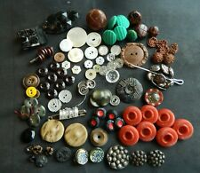 Big Lot 1/2 Pound Vintage Buttons Mixed Lot plastic glass Mop metal other
