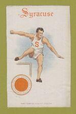 c1910s S22 tobacco silk / felt Syracuse University - Hurdler Nice!