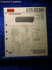 Sony Service Manual STR DE305 Receiver  (#2519)