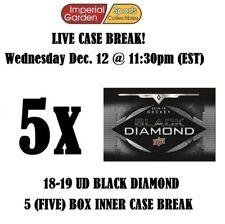 18-19 UD BLACK DIAMOND 5 (FIVE) BOX CASE BREAK #1125 - Edmonton Oilers