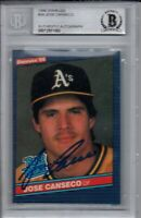 Jose Canseco Oakland A's 1986 Donruss Rookie Autographed Signed Card Beckett BAS