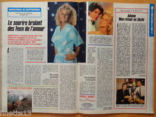 LAURALEE BELL LES FEUX DE L'AMOUR / ADAMO Coupure de presse 2 p 1989 Clipping