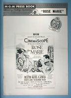 1954-55 Howard Keel 2 MGM Musical Pressbooks Rose Marie & Kismet + 1959 Lobby Cd