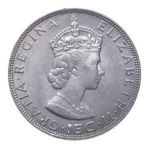SILVER - WORLD COIN - 1964 Bermuda 1 Crown - World Silver Coin *983