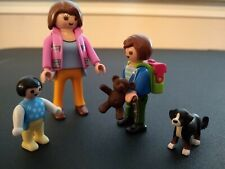 Playmobil Mom Walking Son to School (Rare, pre-owned)