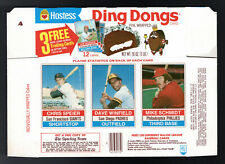 1976 HOSTESS Ding Dongs COMPLETE BOX Panel #82/83/84 MIKE SCHMIDT NM/MT to MINT