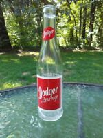 Vintage Dodger Beverage Glass Pop Soda 9oz Bottle 7UP Napoleon Ohio 1960s