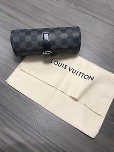 LOUIS BUITTON LV 3 Watch Case Roll Damier Graphite N41137 Rolex