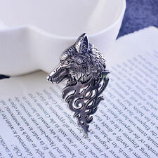 Fashion Retro Men's Wolf Brooch Pin Badge Corsage Suit Shirt Brooches Jewelry