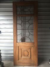 """Beautiful Vintage French Front Door with Leaded Glass 92""""H x 36""""W"""