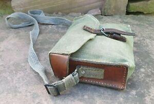 Schweizer Armee Tasche aus Leder / Segeltuch - Mehrzwecktasche - rar - 1945