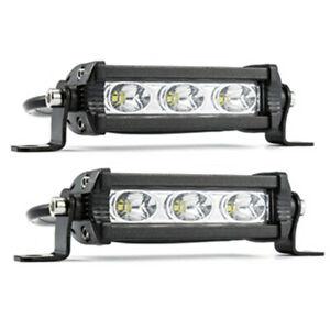 2Pcs Car LED Work Light Bar Bulb Headlight Fog Light Lamp 3LED White Spot Beam