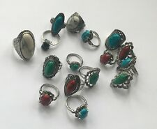 Vintage Antique Silver Plated  Stone Imitation Ring