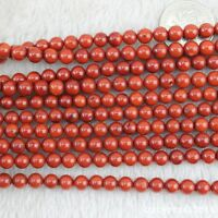 """Wholesale 7mm Round Gemstone Red Coral Loose Beads For Jewelry Making Strand 15"""""""