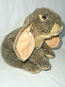 Animal Alley Toys R Us Plush Bunny Rabbit Lop Ears Tan Bean Bag Realistic EASTER