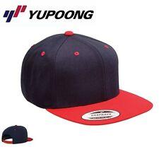 Yupoong Classic 2 Tone Snapback Cap Navyblau Rot