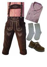 Trachten Set Lederhose,Hemd,Schuhe und Socken Neu oktoberfest Super Angebot
