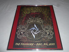FRAMED METALLICA 30TH ANNIVERSARY FILLMORE POSTER MARK DEVITO SAN FRANCISCO RARE