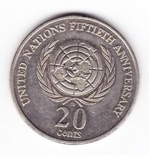 "1995 20c Twenty Cent "" UNITED NATIONS "" "" U.N ' Commemorative 20c"
