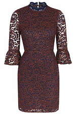 Lace 3/4 Sleeve Floral Petite Dresses for Women
