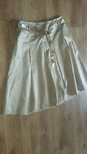 BNWT Vintage Oasis UK 12 Gold Sheen Flare Skirt