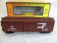 Vintage MTH Rail King O/O-27 Scale Conrail Box Car #30-7011A EX