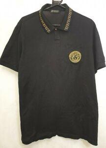 (NUN) Versace Polo Black Shirt - 3XL Mens